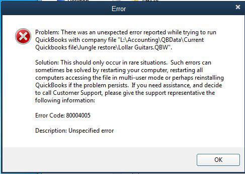 Error-Code-80004005
