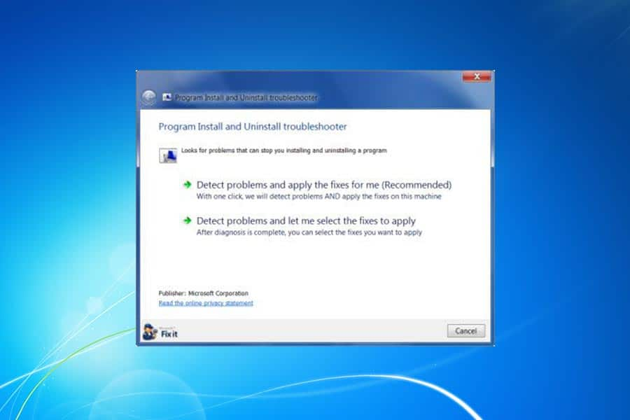 How to fix Install and Uninstall problems in Windows
